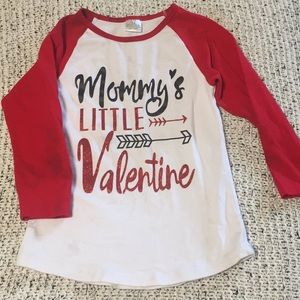 Girls Valentines shirt, size 6. Sold as is.